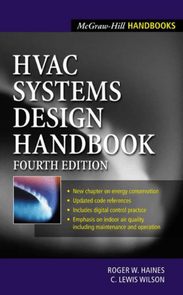 HVAC Systems Design Handbook Fourth Edition By Roger W.Haines and C.Lewis Wilson