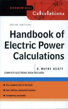 Handbook of Electric Power Calculations Third Edition By H. Wayne Beaty