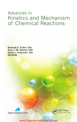 Advances in Kinetics and Mechanism of Chemical Reactions by Gennady E Zaikov DSc And Artur J M Valente PhD