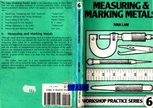 Workshop Practice Series 06 Measuring and Marking Metals