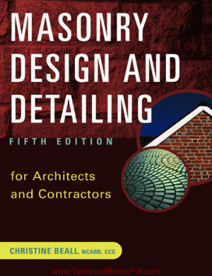 Masonry Design and Detailing For Architects and Contractors Fifth Edition