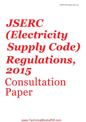 Electricity Supply Code  Jharkhand State Electricity Regulator