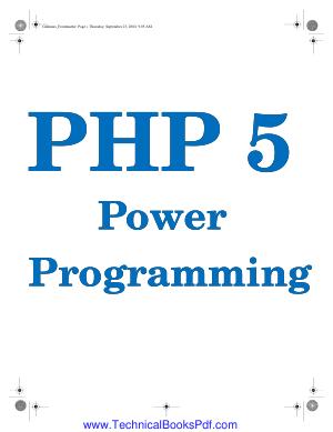 PHP5 Power Programming