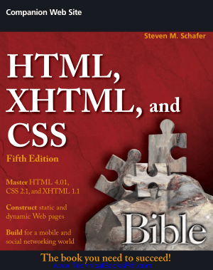 HTML, XHTML and CSS Bible 5th Edition