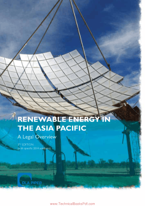 Renewable Energy in the Asia Pacific A Legal Overview 3rd Edition