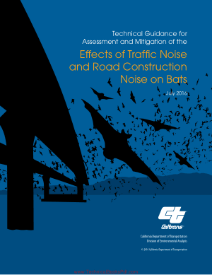 Effects of Traffic Noise and Road Construction Noise on Bats