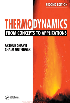 Thermodynamics from Concepts to Applications Second Edition bY Shavit and Chaim Gutfinger