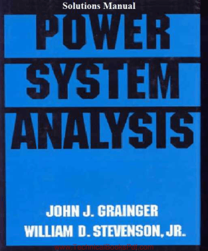 Power System Analysis Solutions Manual