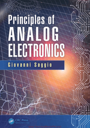 Principles of Analog Electronics By Giovanni Saggio