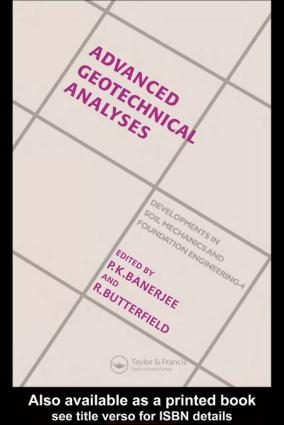 Advanced Geotechnical Analyses By P.K.Banerjee and R.Butterfield