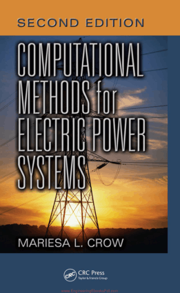 Computational Methods for Electric Power Systems Second Edition By Mariesa L. Crow