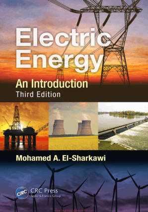 Electric Energy an Introduction Third Edition By Mohamed A. El-Sharkawi