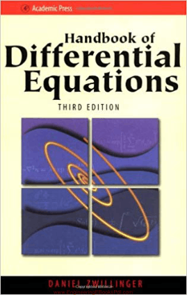 Handbook of Differential Equations Third Edition By Daniel Zwillinger