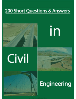 200 Short Questions and Answers in Civil Engineering By Mr. Vincent T.H. CHU