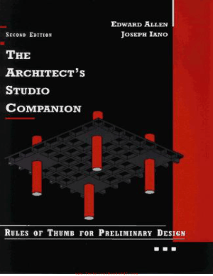 The Architects Studio Companion Rules Of Thumb for Preliminary Design Third Edition by Edward Allen and Joseph Iano
