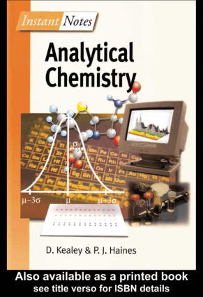 Analytical Chemistry By D. Kealey and P. J. Haines