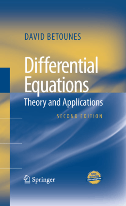 Differential Equations Theory and Applications Second Edition By David Betounes