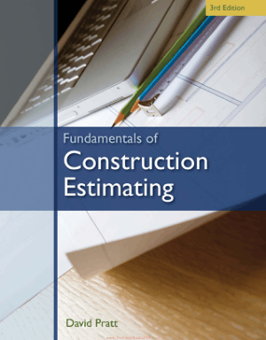 Fundamentals of Construction Estimating Third Edition by David J. Pratt