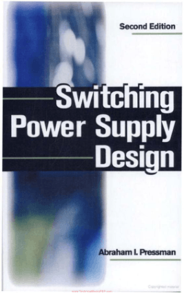Switching Power Supply Design Second Edition By Abraham I. Pressman