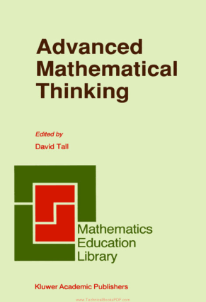 Advanced Mathematical Thinking Edited By David Tall