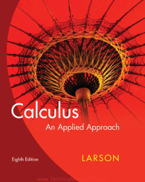 Calculus an Applied Approach Eight Edition by Ron Larson and David C. Falvo