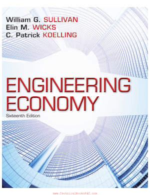 Engineering Economy 16th Edition by William G Sullivan and Elin M Wicks