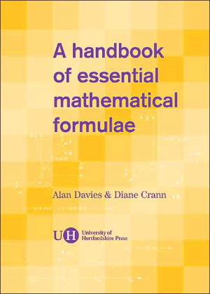 A Handbook of Essential Mathematical Formulae by Diane Crann and Alan Davies