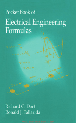 Pocket Book of Electrical Engineering Formulas by Ronald J. Tallarida and Richard C. Dorf
