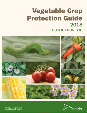 Vegetable Crop Protection Guide 2018