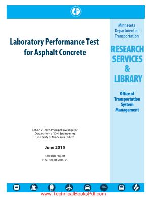 Laboratory Performance Test for Asphalt Concrete by Eshan V Dave