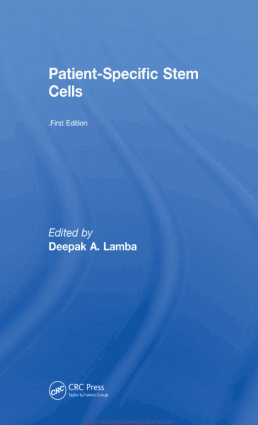 Patient Specific Stem Cells by Deepak A. Lamba