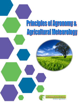 Principles of Agronomy and Agricultural Meteorology