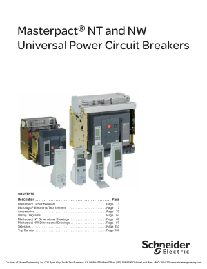Masterpact NT and NW Universal Power Circuit Breakers