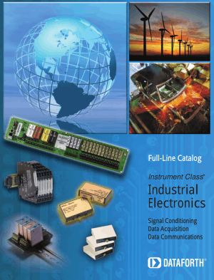 Industrial Electronics, Signal Conditioning, Data Acquisition, Data Communications