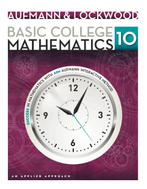 Basic College Mathematics an Applied Approach by Richard N. Aufmann and Joanne S. Lockwood