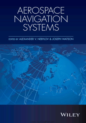 Aerospace Navigation Systems Edited By Alexander V. Nebylov and Joseph Watson