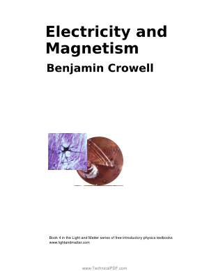 Electricity and Magnetism Edited by Benjamin Crowell