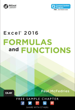 Excel 2016 Formulas and Functions by Paul McFedries