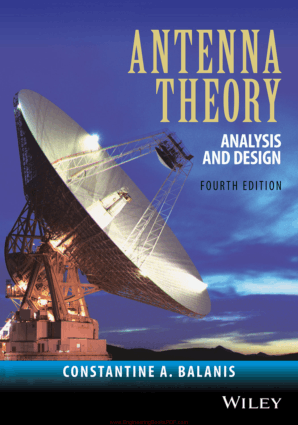 Antenna Theory Analysis and Design 4th Edition by Constantine A. Balanis