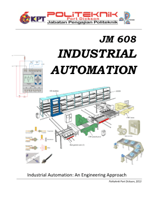 Industrial Automation An Engineering Approach