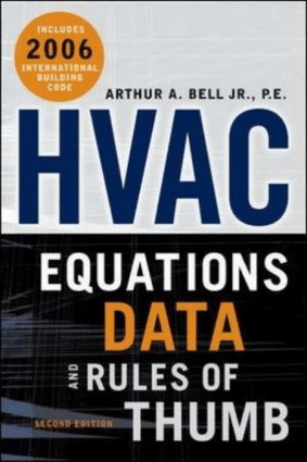 HVAC Equations, Data and Rules of Thumb 2nd Edition By Arthur Bell