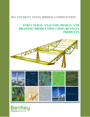 Structural Analysis, Design and Drawing Production Using Bentley Products