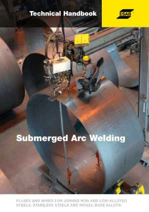 Technical Handbook Submerged Arc Welding