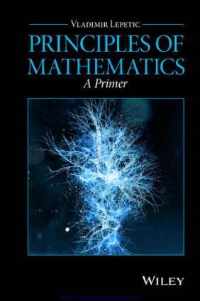 Principles of Mathematics A Primer By Vladimir Lepetic