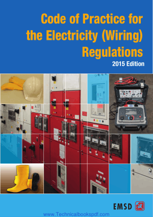 Code of Practicefor the Electricity Wiring Regulations