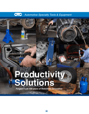 Automotive Specially Tools and Equipment Productivity Solutions Forged From 100 Years of Relentless Innovation