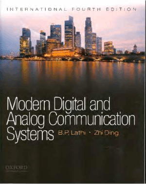 Modern Digital and Analog Communication Systems International Fourth Edition by B. P. Lathi and Zhi Ding