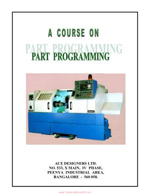 Part Programming Manual CNC