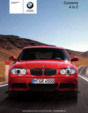BMW 135i Convertible 2008 Owner's Manual