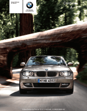 BMW 135i Convertible 2010 Owner's Manual